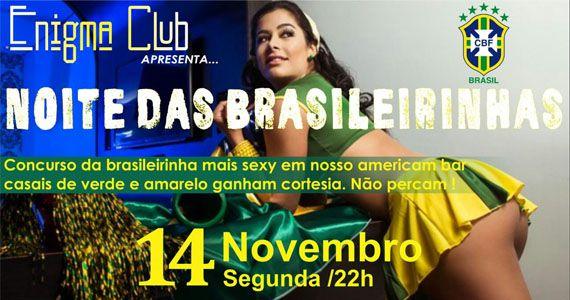 Segunda-feira acontece a Noite das Brasileirinhas com concurso das mais belas no Enigma Club Eventos BaresSP 570x300 imagem