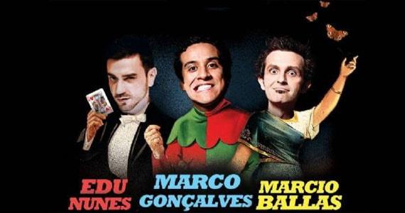 eventos - Risadaria 2017 tem Noite de Improviso com Edu Nunes, Marcio Ballas e Marco Gonçalves no Comedians Comedy Club
