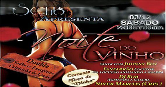 Show do locutor Jhonny Boy agitando a Noite do Vinho no SClub Eventos BaresSP 570x300 imagem