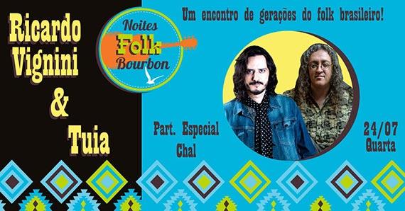 Noite de folk reúne Ricardo Vignini, Tuia e Chal no BSMC Eventos BaresSP 570x300 imagem