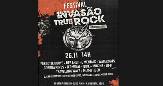 Festival Jägermeister Invasão True Rock no Rooftop da Galeria Ouro Fino Eventos BaresSP 570x300 imagem