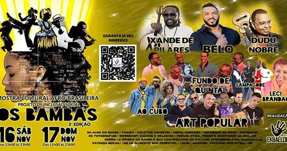Os Bambas realiza nova edição com Belo, Dudo Nobre, Art Popular e mais Eventos BaresSP 570x300 imagem
