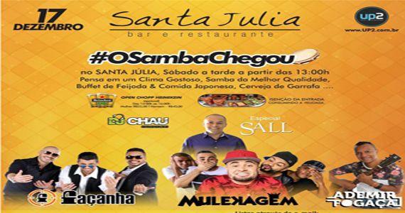 #OSambaChegou com feijoada e Grupo Façanha, Mulekagem e Ademir Fogaça no Bar Santa Julia Eventos BaresSP 570x300 imagem