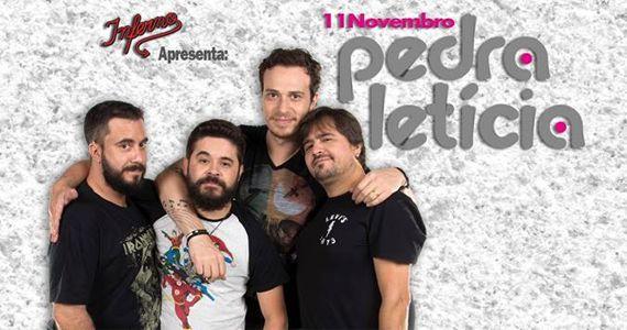 A banda de pop rock Pedra Letícia sobe no palco do Inferno Club Eventos BaresSP 570x300 imagem