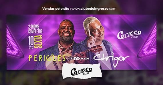 Péricles sobe ao palco do Carioca Club com seus sucessos Eventos BaresSP 570x300 imagem