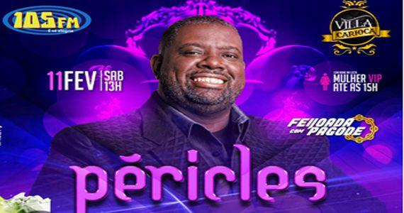 O cantor Péricles sobe no palco do Carioca Interlagos para cantar os seus maiores sucessos acompanhado de feijoada Eventos BaresSP 570x300 imagem