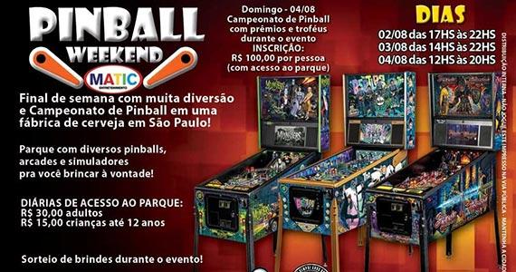 Cervejaria Tarantino realiza o Pinball Weekend Eventos BaresSP 570x300 imagem