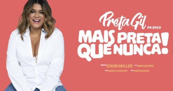 Preta Gil chega ao Theatro NET com a peça Mais Preta que Nunca Eventos BaresSP 570x300 imagem