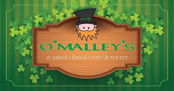 O'Malley's realiza comemoração do St. Patrick's com shows de irish music e rock Eventos BaresSP 570x300 imagem