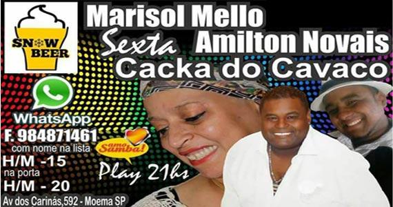 Projeto Samba Moema é apresentado por Marisol Mello e Amilton Novais no Snow Beer Eventos BaresSP 570x300 imagem