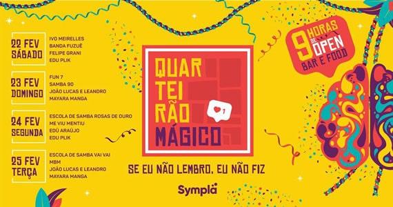 Vila Seu Justino recebe diversas atrações para festejar o Carnaval com Quarteirão Mágico Eventos BaresSP 570x300 imagem