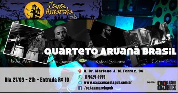 O melhor da música instrumental com Quarteto Aruanã Brasil na Casa Amarela Pub Eventos BaresSP 570x300 imagem
