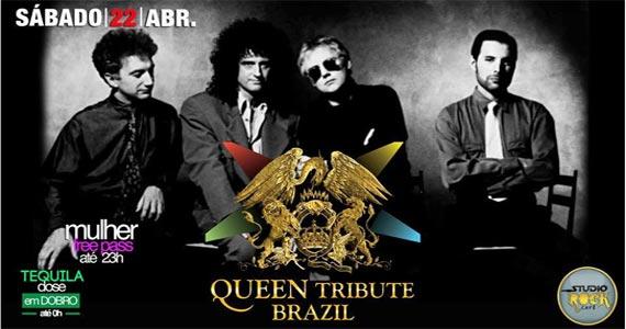 Sábado o Queen Tribute Brazil se apresenta no palco do Studio Rock Café Eventos BaresSP 570x300 imagem