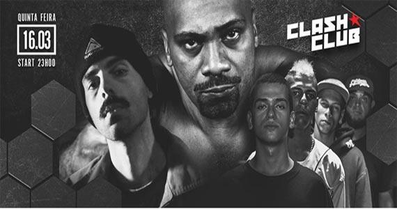 O Clash Club promove uma conexão Rio - São Paulo com grandes nomes do rap e do hip hop  Eventos BaresSP 570x300 imagem