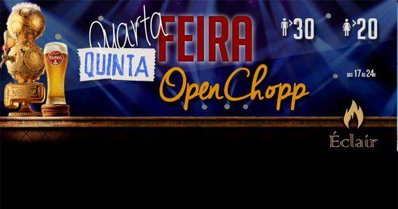 Quinta-feira tem open chopp e os agitos do Dj Wagninho no Éclair Bar Eventos BaresSP 570x300 imagem
