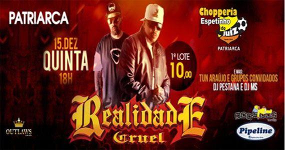 Quinta Projeto Rap com Realidade Cruel, Tun Araújo e Dj MS no Bar Espetinho do Juiz Patriarca Eventos BaresSP 570x300 imagem