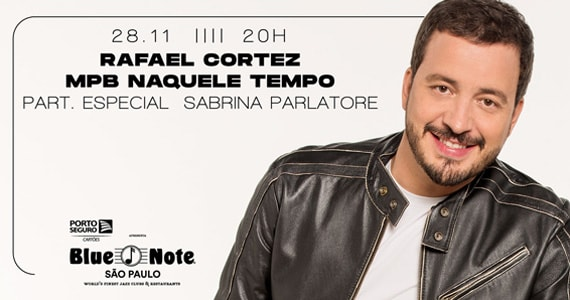 Rafael Cortez faz show no Blue Note e apresenta seu novo álbum Naquele Tempo Eventos BaresSP 570x300 imagem
