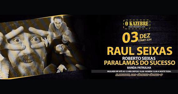 Sábado é dia de cover do Raul Seixas e Paralamas do Sucesso no Kazebre Eventos BaresSP 570x300 imagem