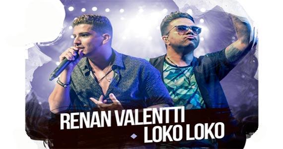 Sábado é dia do cantor Renan Valentti e do Loko Loko cantarem na Woods Eventos BaresSP 570x300 imagem