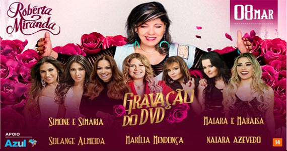 Roberta Miranda reúne mulheres do sertanejo pop para a gravação do seu mais novo DVD no Espaço das Américas Eventos BaresSP 570x300 imagem