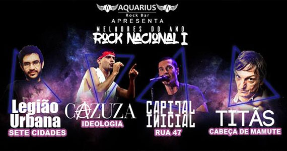 Rock nacional com covers do Capital Inicial, Legião Urbana, Titãs e mais no Aquarius Rock Bar Eventos BaresSP 570x300 imagem