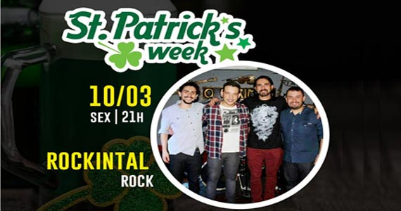 O rock da banda Rockintal vai invadir o The Kings na St. Patricks Week Eventos BaresSP 570x300 imagem
