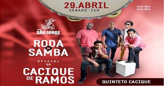 Feijoada e Roda de Samba com Cacique de Ramos embalam à tarde da Estação São Jorge Eventos BaresSP 570x300 imagem