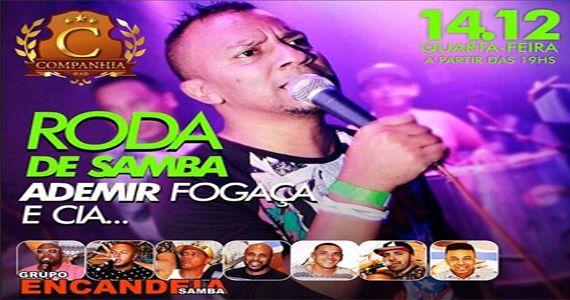 Quarta é dia de Roda de Samba com Ademir Fogaça e Grupo Encandeia Samba na Companhia da Cerveja Eventos BaresSP 570x300 imagem