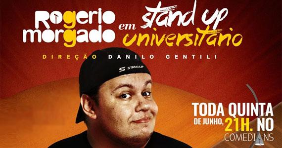 eventos - Risadaria 2017 com o stand-up Universitário de Rogério Morgado no Comedians Club