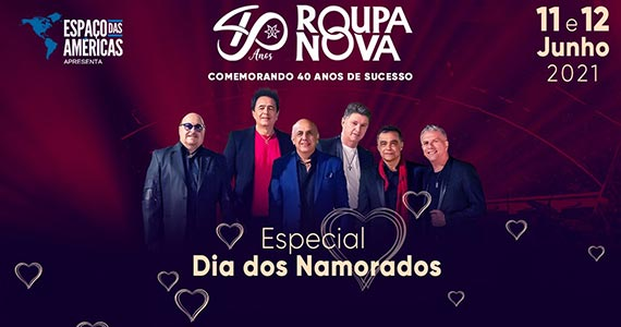 Roupa Nova apresenta show especial de Dia dos Namorados no Espaço das Américas Eventos BaresSP 570x300 imagem