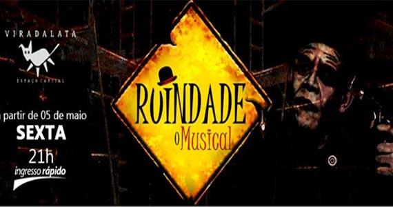 """""""Ruindade - O Musical"""" lança campanha #DiadoAmor para celebrar a liberdade de amar e faz promoção na compra de ingressos no Teatro Viradalata Eventos BaresSP 570x300 imagem"""