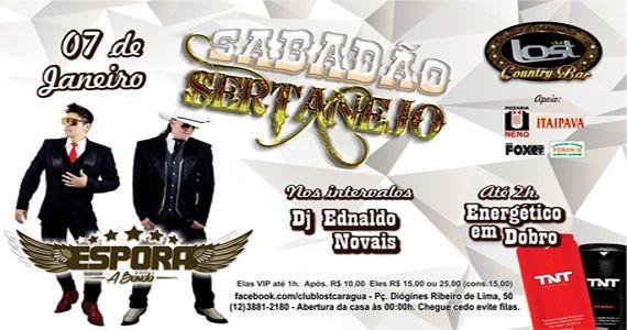 Sabadão sertanejo com banda Espora e nos intervalos Dj Ednaldo Novais no Club Lost Eventos BaresSP 570x300 imagem