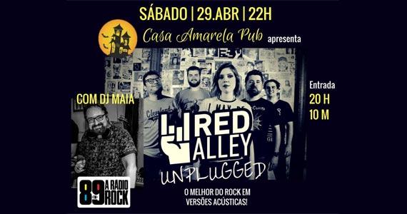 Sucessos do pop rock com a banda Red Alley no palco da Casa Amarela Pub Eventos BaresSP 570x300 imagem