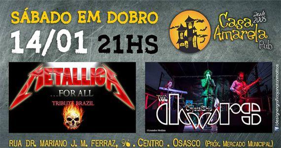 Sábado em dobro com Tributo ao Metallica e The Doors na Casa Amarela Pub Eventos BaresSP 570x300 imagem