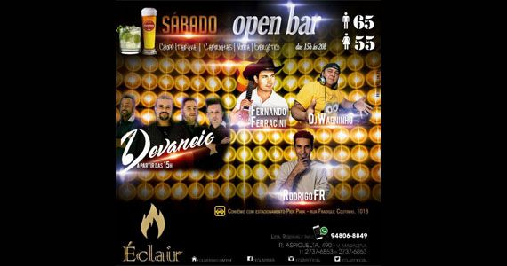 Grupo Devaneio, Rodrigo FR e Fernando Ferracini comando o agito da tarde de sábado no Éclair Bar Eventos BaresSP 570x300 imagem