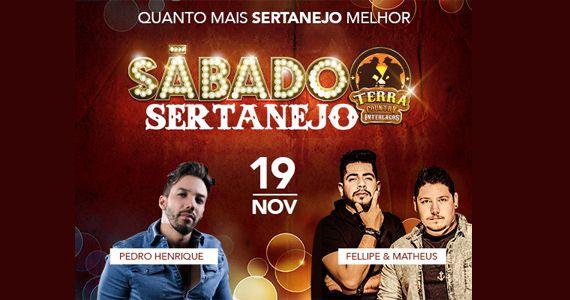 Sábado sertanejo com Pedro Henrique e a dupla Fellipe & Matheus no Terra Country Eventos BaresSP 570x300 imagem