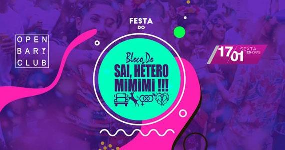 Bloco do Sai, Hétero Mimimi realiza esquenta ao Carnaval Eventos BaresSP 570x300 imagem