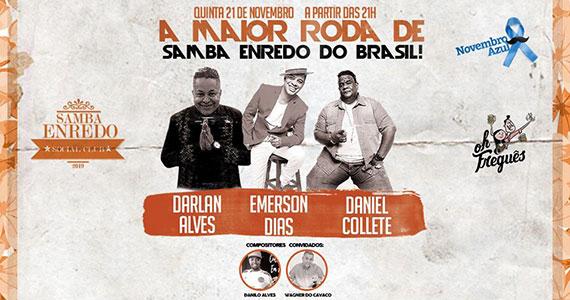 Samba-Enredo Social Club agita Oh Freguês com roda de samba Eventos BaresSP 570x300 imagem