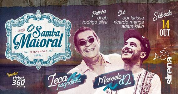 Sirena reúne Zeca Pagodinho e Marcelo D2 no show Samba Maioral Eventos BaresSP 570x300 imagem