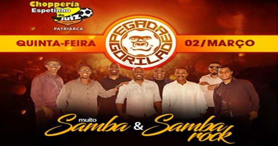 Quinta-feira é dia de Samba & Samba Rock com Pegada Gorila e aulas de dança no Bar Espetinho do Juiz Eventos BaresSP 570x300 imagem