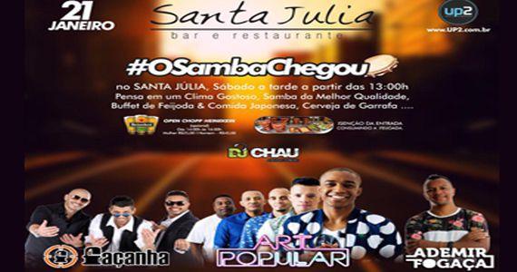 O samba chegou no Bar Santa Julia com Grupo Façanha, Art Popular, Ademir Fogaça e mais no Santa Julia Eventos BaresSP 570x300 imagem