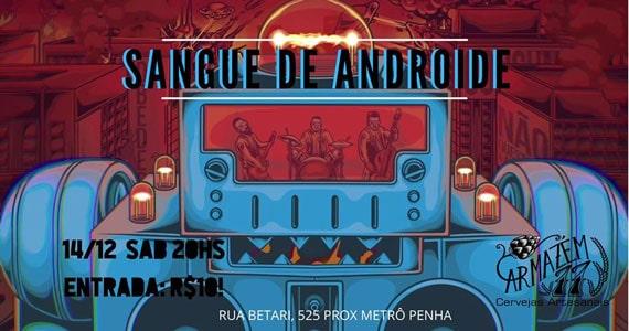 Armazém 77 recebe a banda Sangue de Androide em noite de punk rock. Eventos BaresSP 570x300 imagem