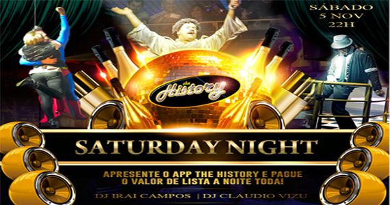 Djs Iraí Campos e Claudio Vizu agitam o Saturday Night do The History Eventos BaresSP 570x300 imagem