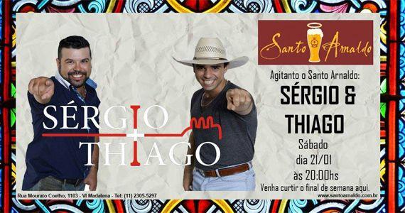 A dupla sertaneja Sérgio e Thiago embalam a noite no Bar Santo Arnaldo Eventos BaresSP 570x300 imagem