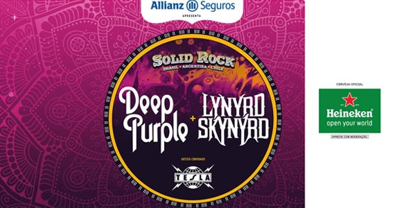 Solid Rock no Allianz Parque traz o show das bandas Deep Purple, Lynyrd Skynyrd e Tesla