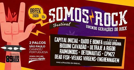 Somos Rock Festival reúne Capital Inicial, CPM22, Raimundos e mais Eventos BaresSP 570x300 imagem