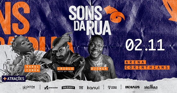 Sons da Rua traz grandes nomes do rap para Arena Corinthians Eventos BaresSP 570x300 imagem