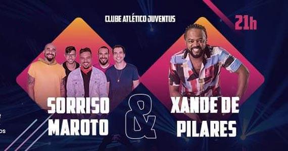 Sorriso Maroto e Xande de Pilares no Clube Juventus Eventos BaresSP 570x300 imagem