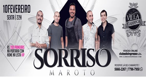 O grupo Sorriso Maroto traz as músicas para o palco do Carioca Interlagos Eventos BaresSP 570x300 imagem