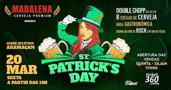 Festa de St. Patrick's da Cervejaria Madalena acontece no Clube Aramaçan Eventos BaresSP 570x300 imagem